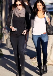 Emily Blunt with Friend Heading to Lunch in Los Angeles
