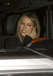 Hilary Duff at Mastro's Steakhouse in Beverly Hills