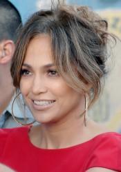 Jennifer Lopez on Set of iQ'Viva! The Chosen in Uruguay