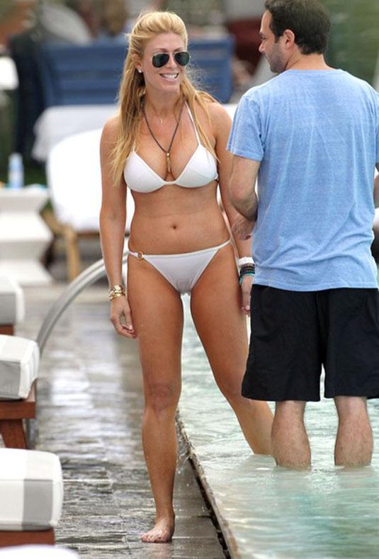 547622343d2e8 Jill Martin in White Bikini at Pool in Miami - HawtCelebs