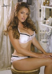 Kelly Brook 2012 Calendar April