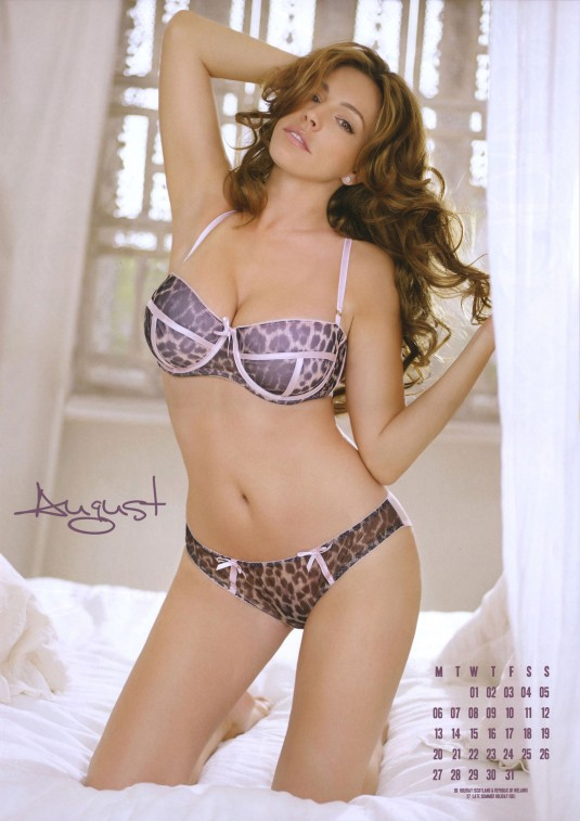 Kelly Brook 2012 Calendar August