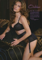 Kelly Brook 2012 Calendar October