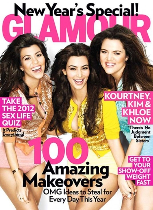 Kim, Kourtney & Khloe Kardashian Covers Glamour Magazine