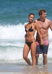 Lauren Brant HOT Bikini Candids on Beach in Australia