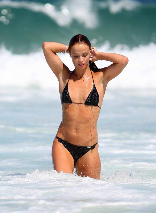 Lauren Brant HOT Bikini Candids on Beach in Australia