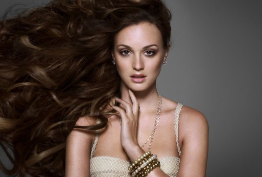 Leighton Meester The Beauty Book for Brain Cancer Photoshoot