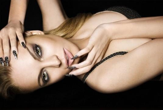 Lindsay Lohan The Beauty Book for Brain Cancer Photoshoot