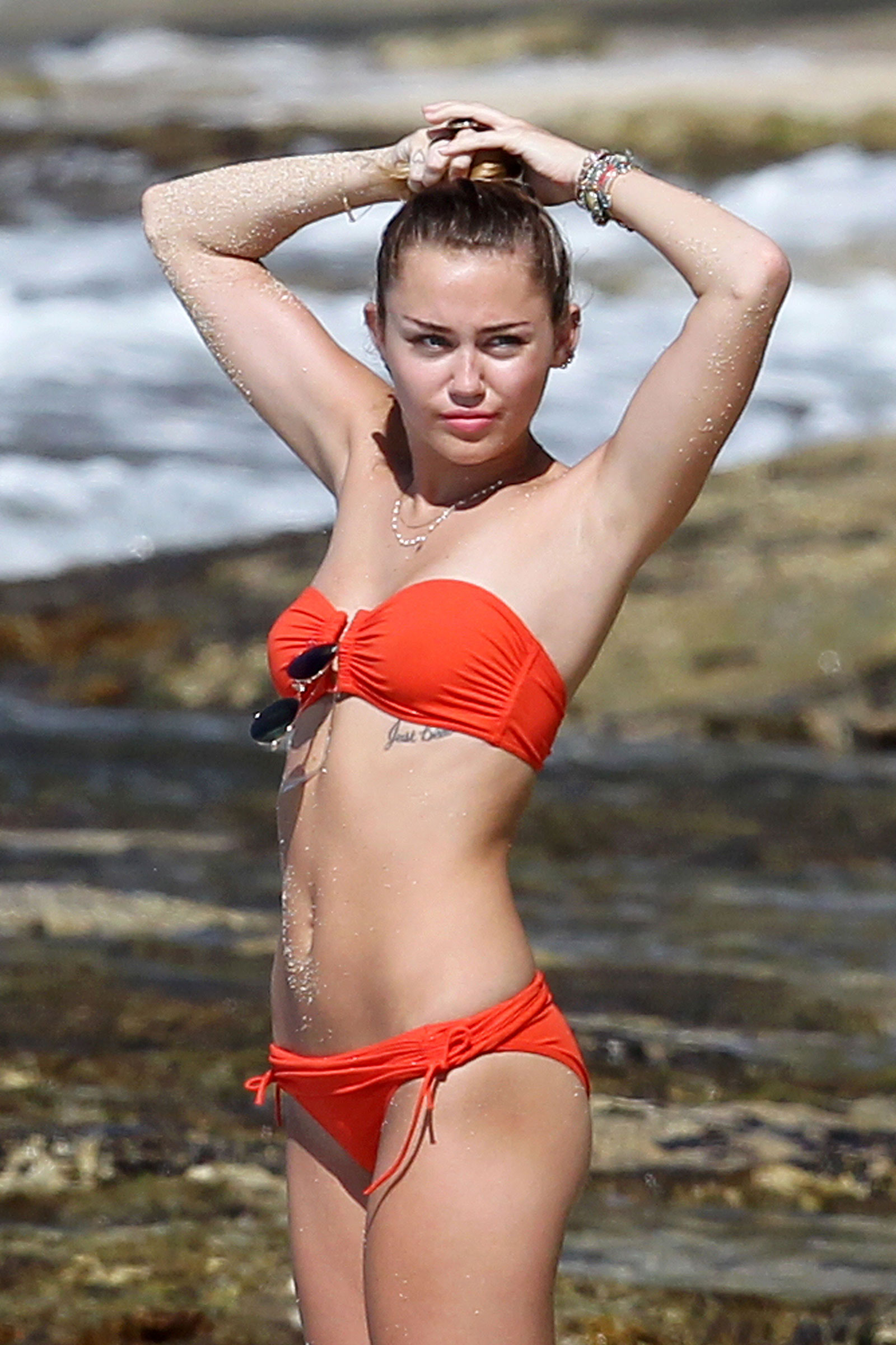 Miley cyrus beach bikini