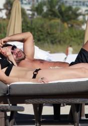 Mischa Barton Looks Hot in Bikini Top on Miami Beach