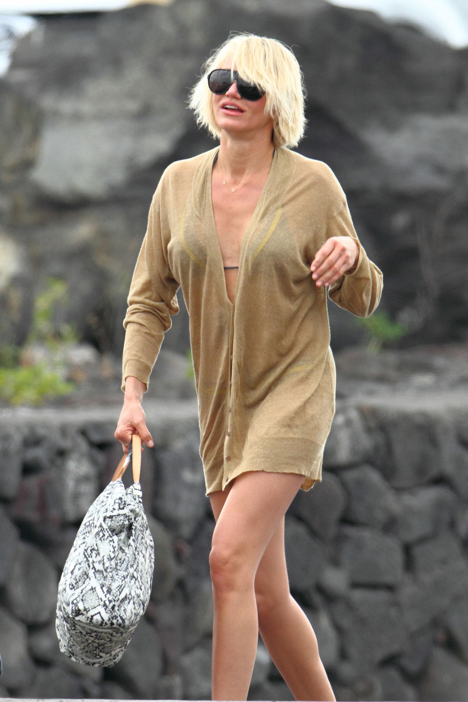 Cameron Diaz Bikini Candids on the Beach in Hawaii ... Cameron Diaz Pregnant 2019 Adoption