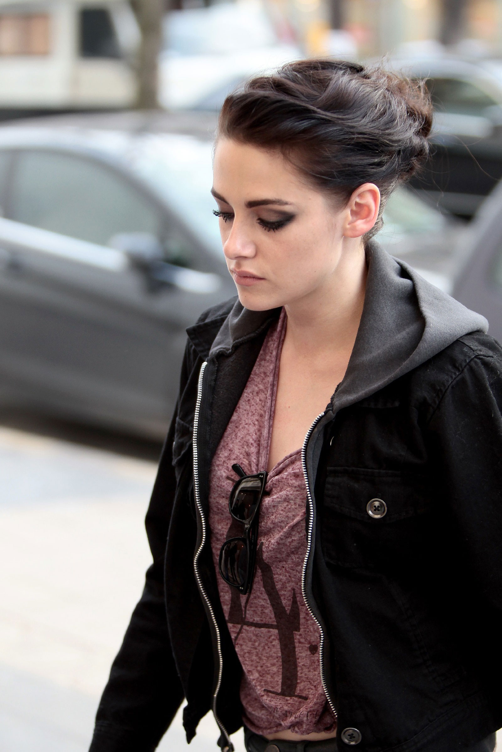 kristen stewart heads to vanity fair photo shoot - hawtcelebs