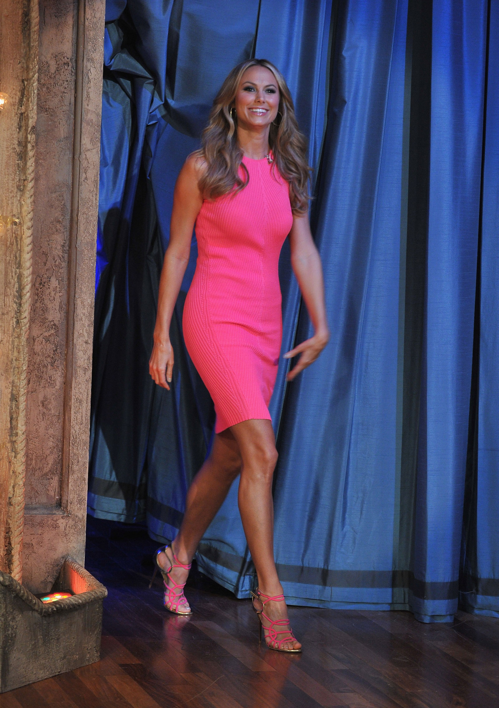 Stacy Keibler At Late Night With Jimmy Fallon In New York