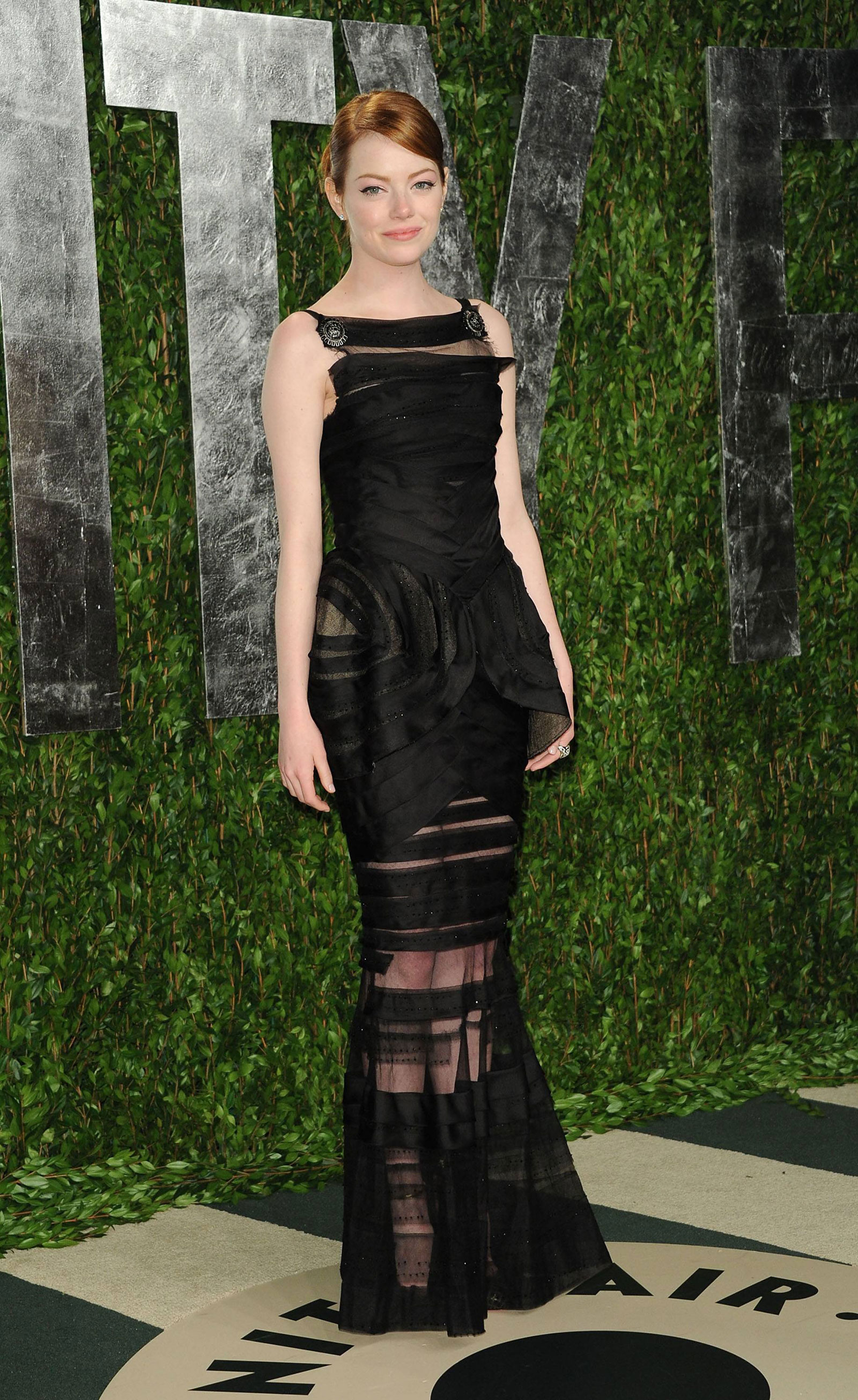 Emma Stone at 2012 Vanity Fair Oscar Party at Sunset Tower ... Emma Stone Vanity Fair Photoshoot