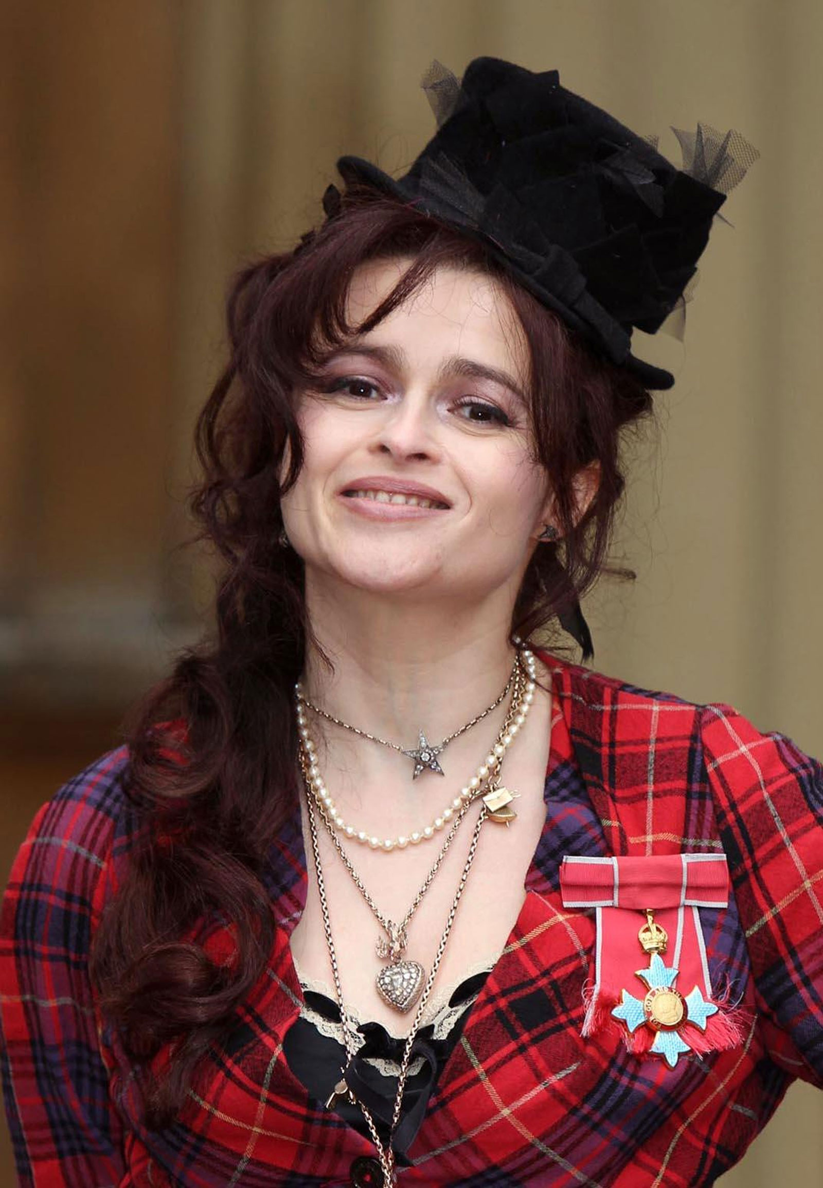 Helena Bonham Carter at CBE Medal Ceremony with Queen ...