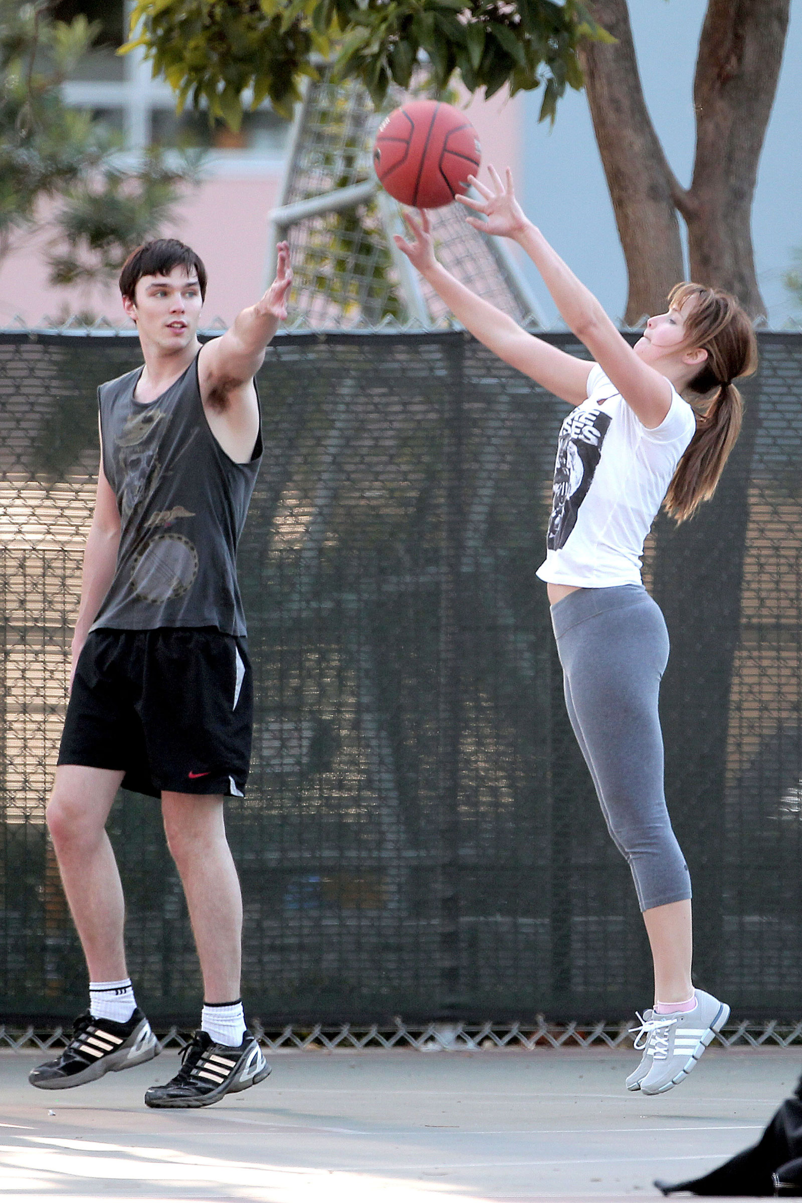 Jennifer Lawrence In Tight Playing Basketball Hawtcelebs