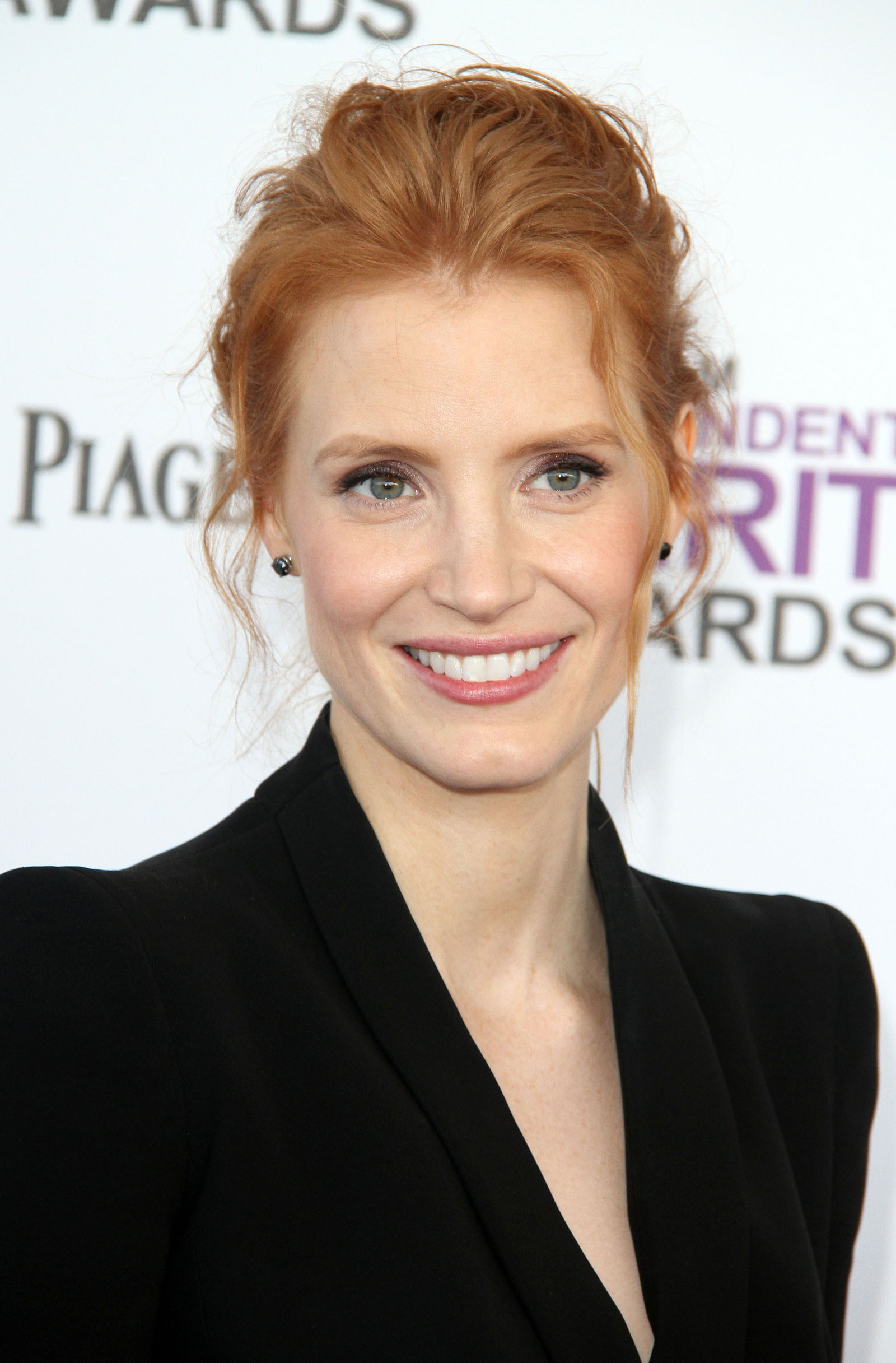 Jessica Chastain at the 2012 Film Independent Spirit Awards in Santa ... Jessica Chastain