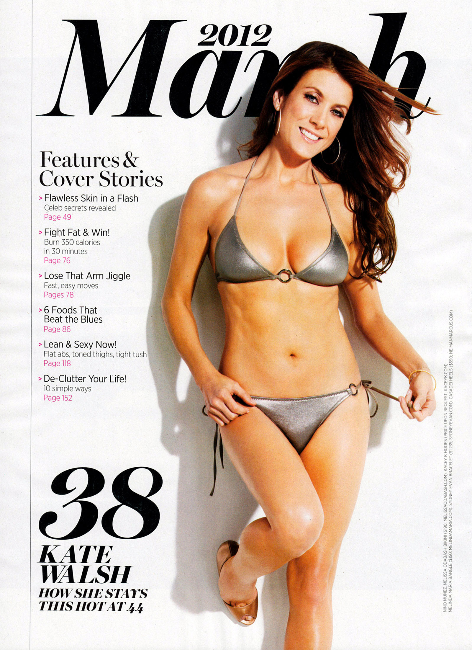 Model Upg: Kate Walsh Hot in Shape Magazine, March 2012 Issue-Photo ...
