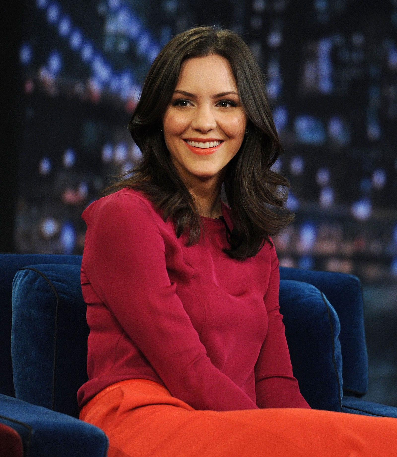 Katharine mcphee at late night with jimmy fallon show