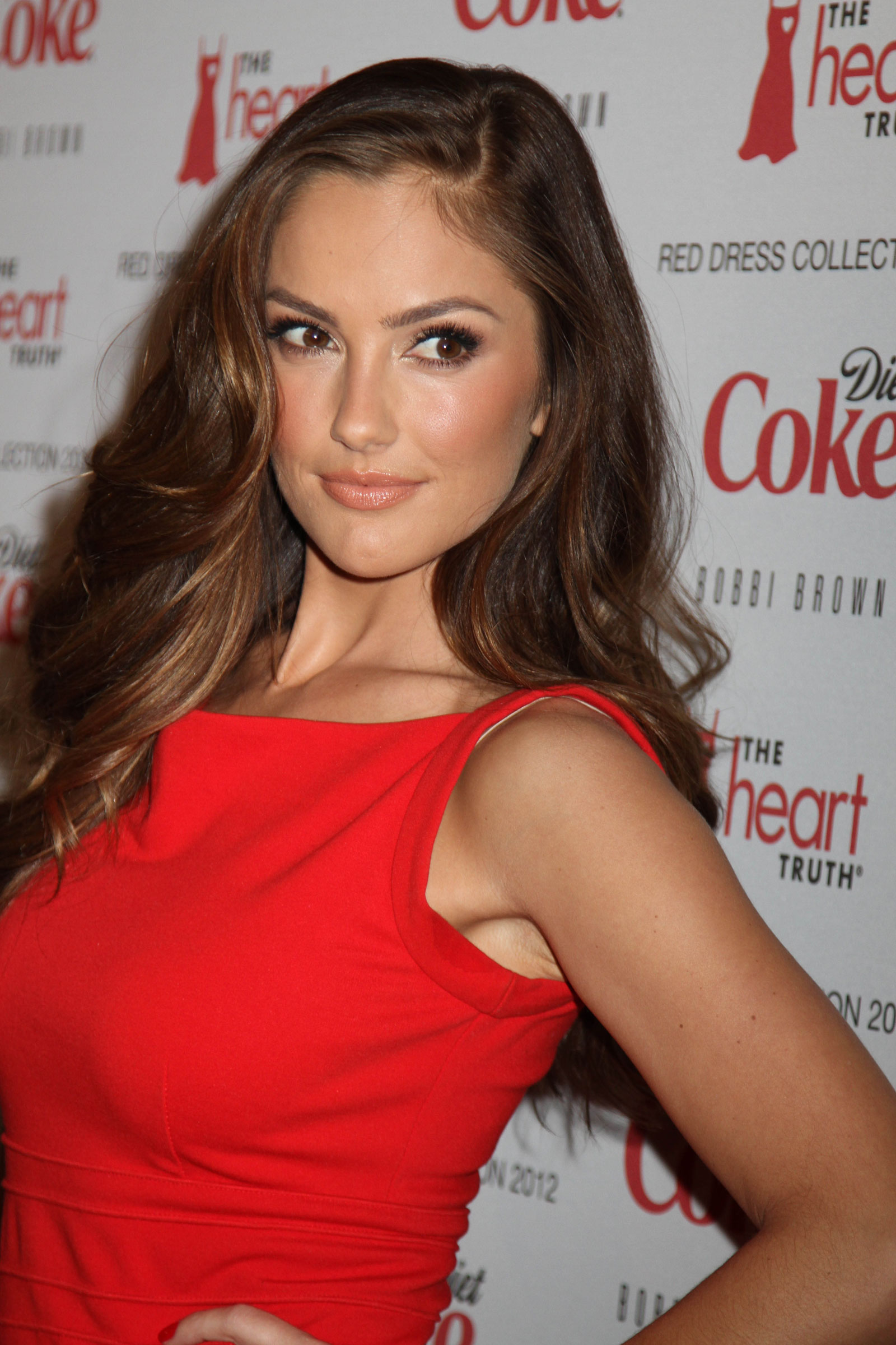 Minka Kelly At The Heart Truths Red Dress Collection 2012