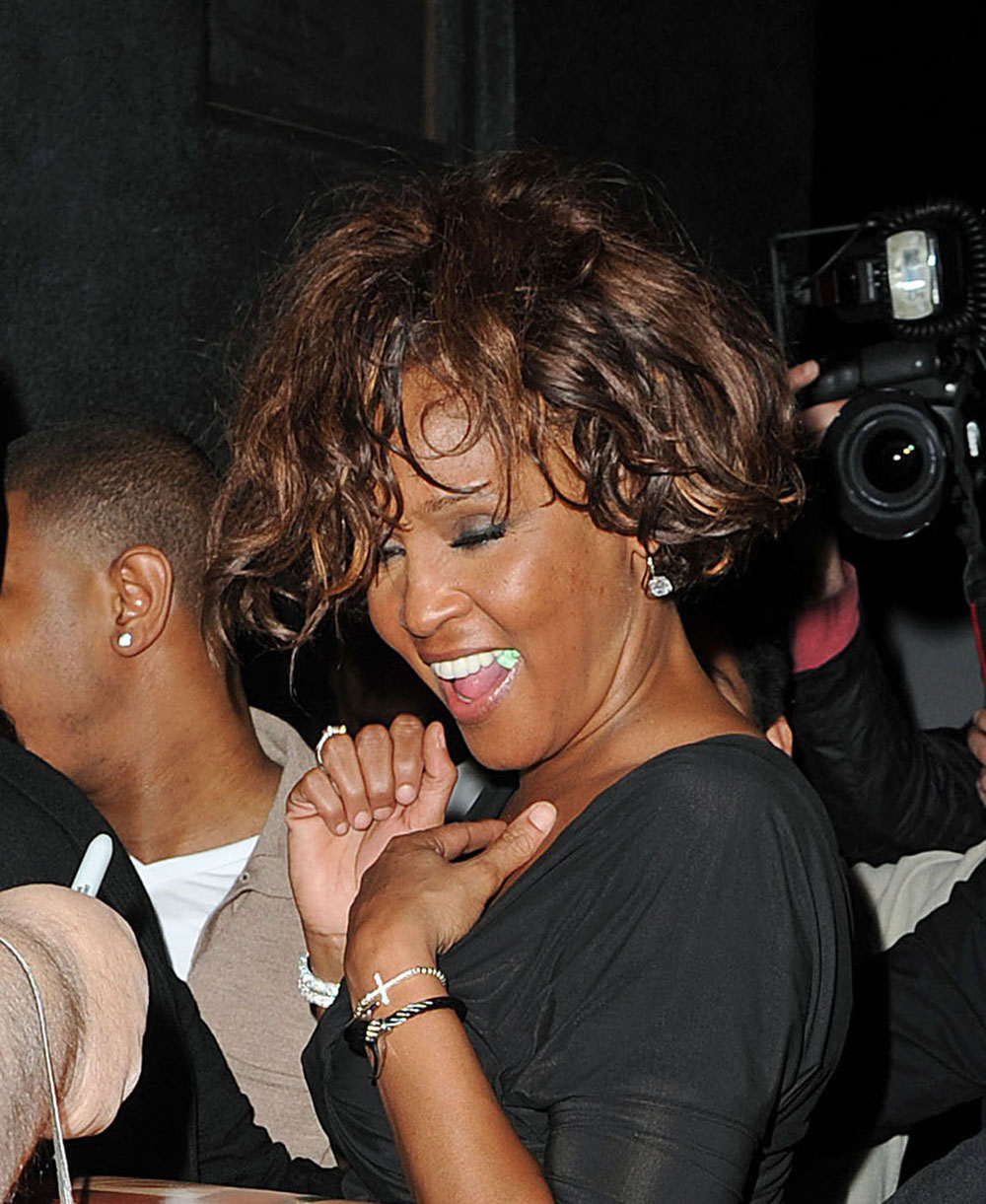 Whitney Houston Leaving A Nightclub In Hollywood On