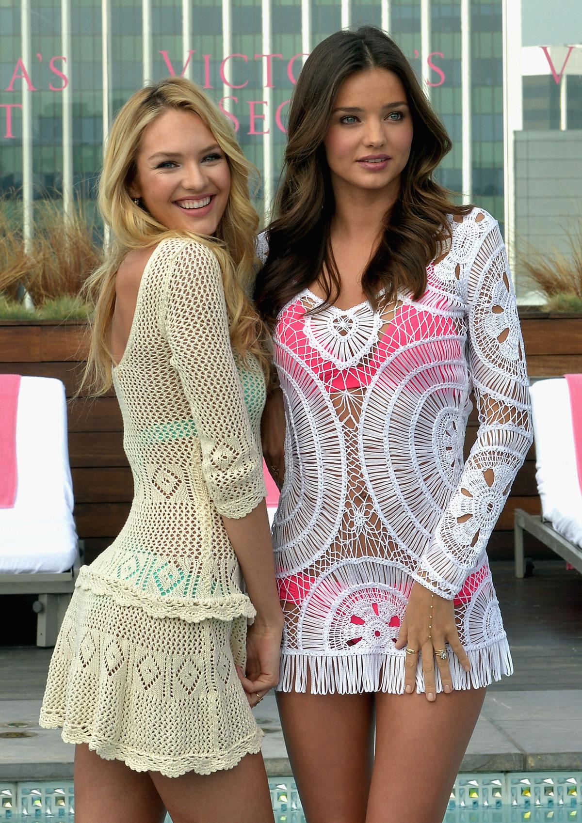 CANDICE SWANEPOEL and MIRANDA KERR at 2012 Victoria's ... Miranda Kerr Collection