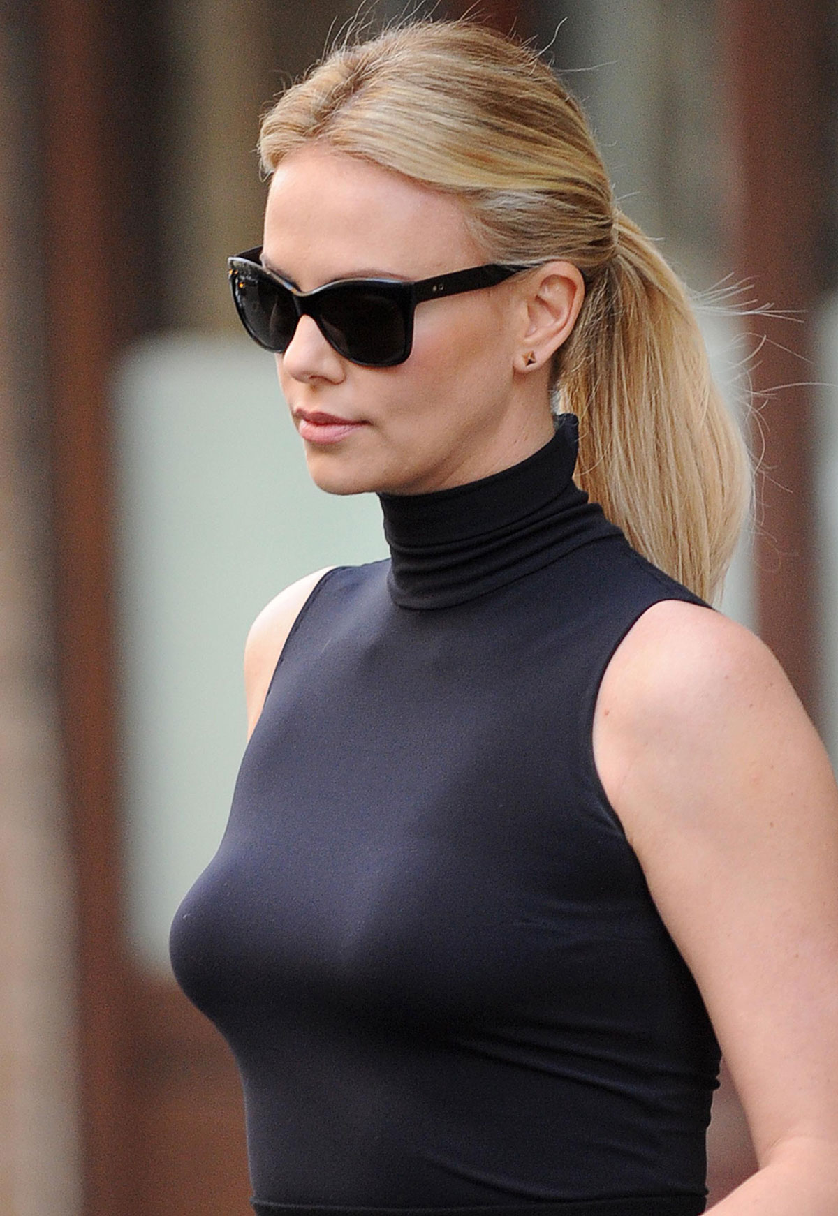 CHARLIZE THERON Leaving NBC Studios in New York - HawtCelebs ... Charlize Theron