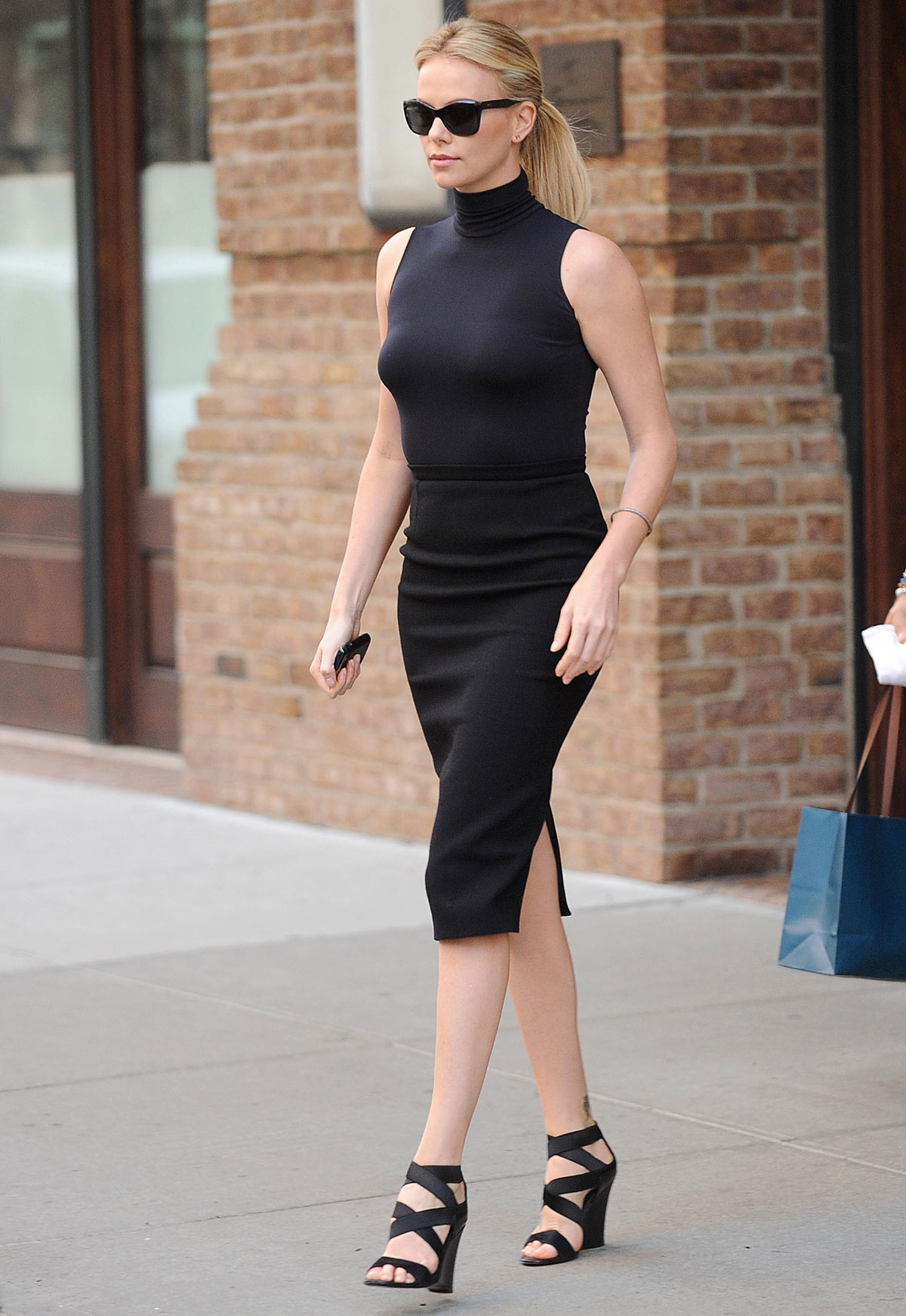 Charlize Theron Leaving Nbc Studios In New York Hawtcelebs