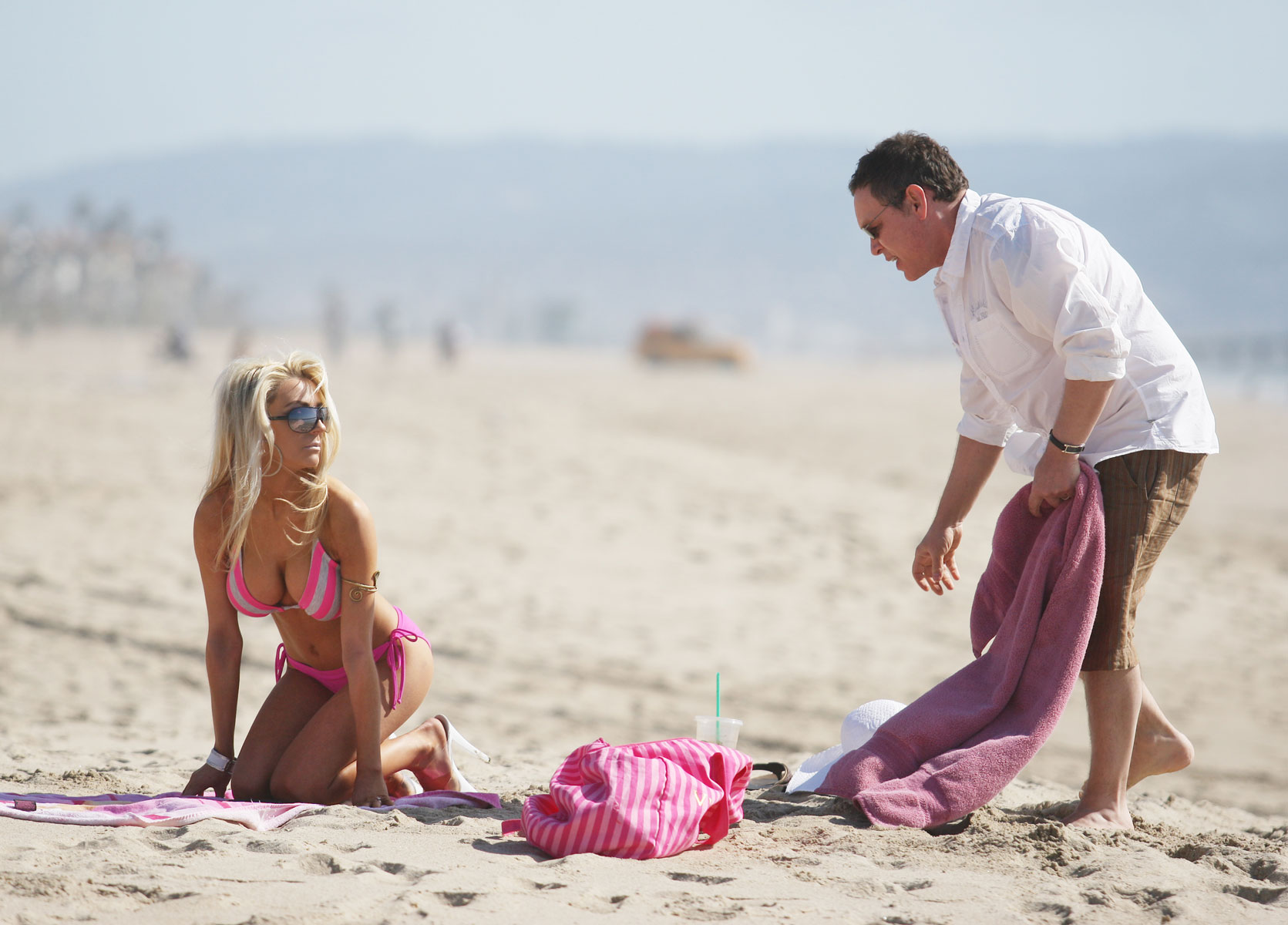 Courtney Stodden in Bikini on the beach in Malibu Pic 8 of 35