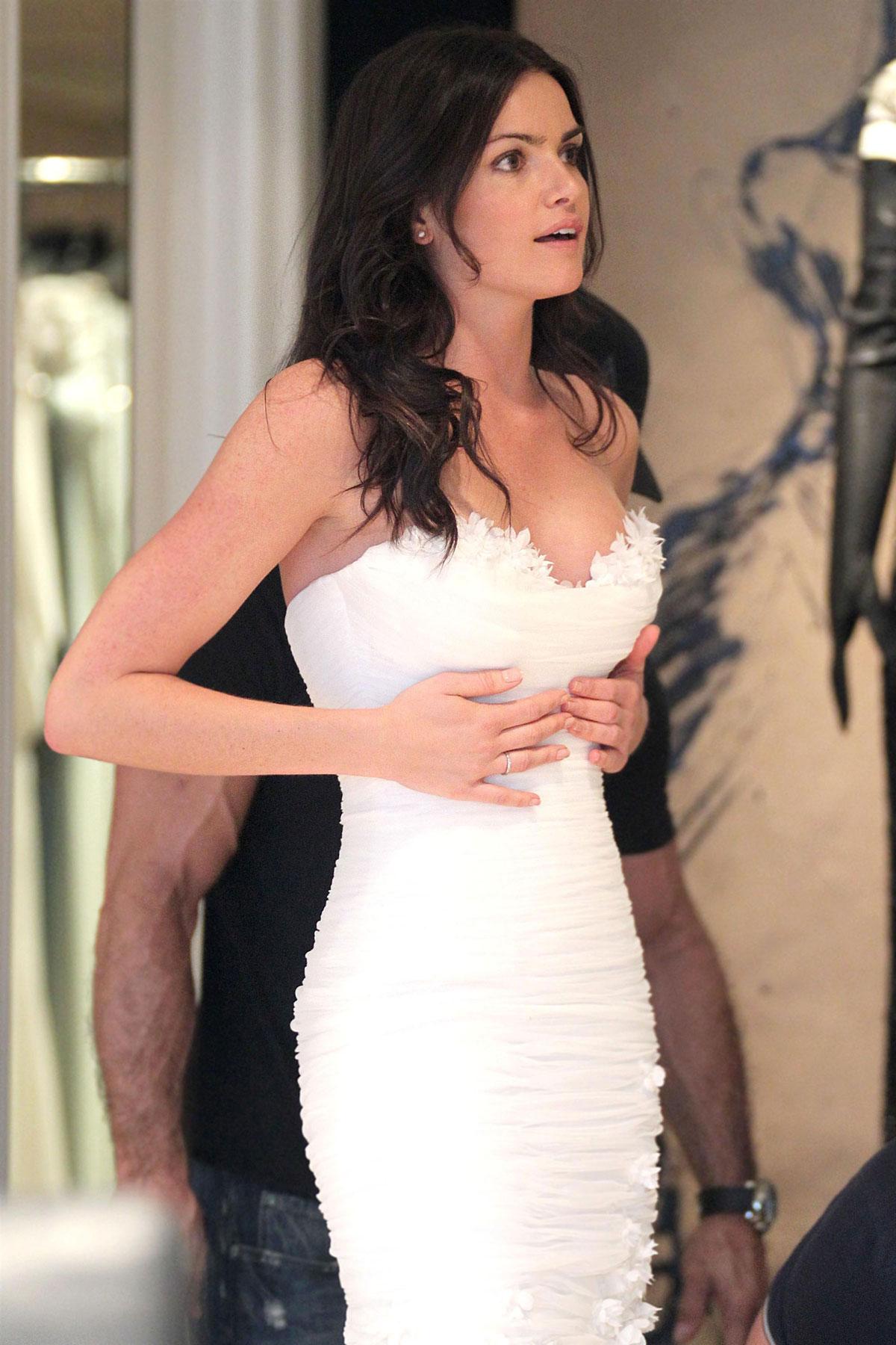 Courtney Robertson in Wedding Dresses - HawtCelebs