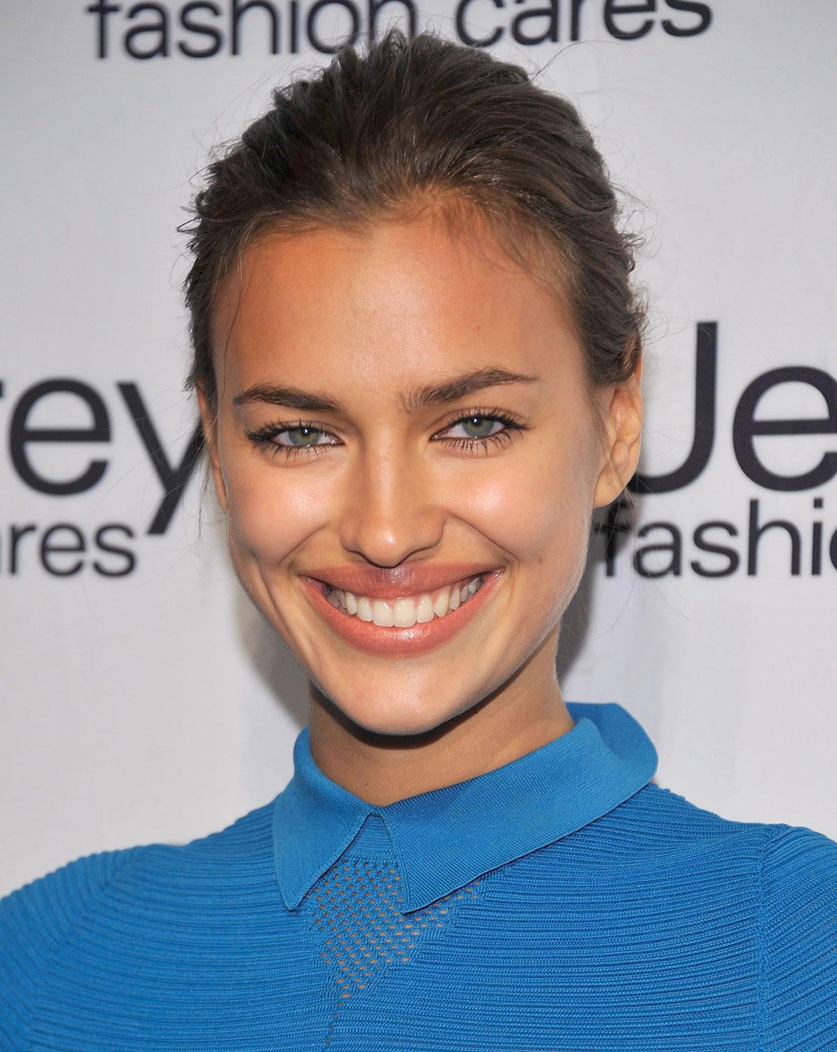 Irina shayk at jeffrey fashion cares in new york