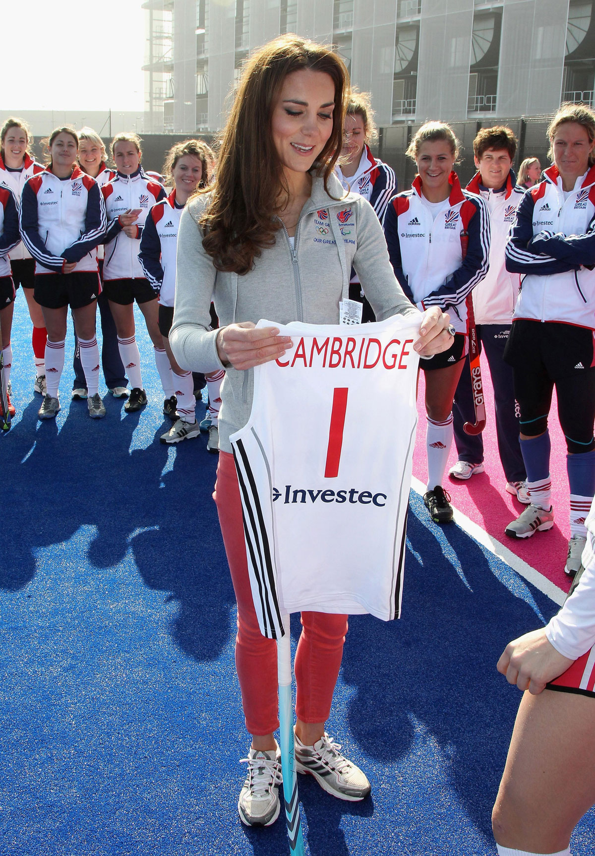 KATE MIDDLETON Plays Hockey at the Olympic Park in London ...