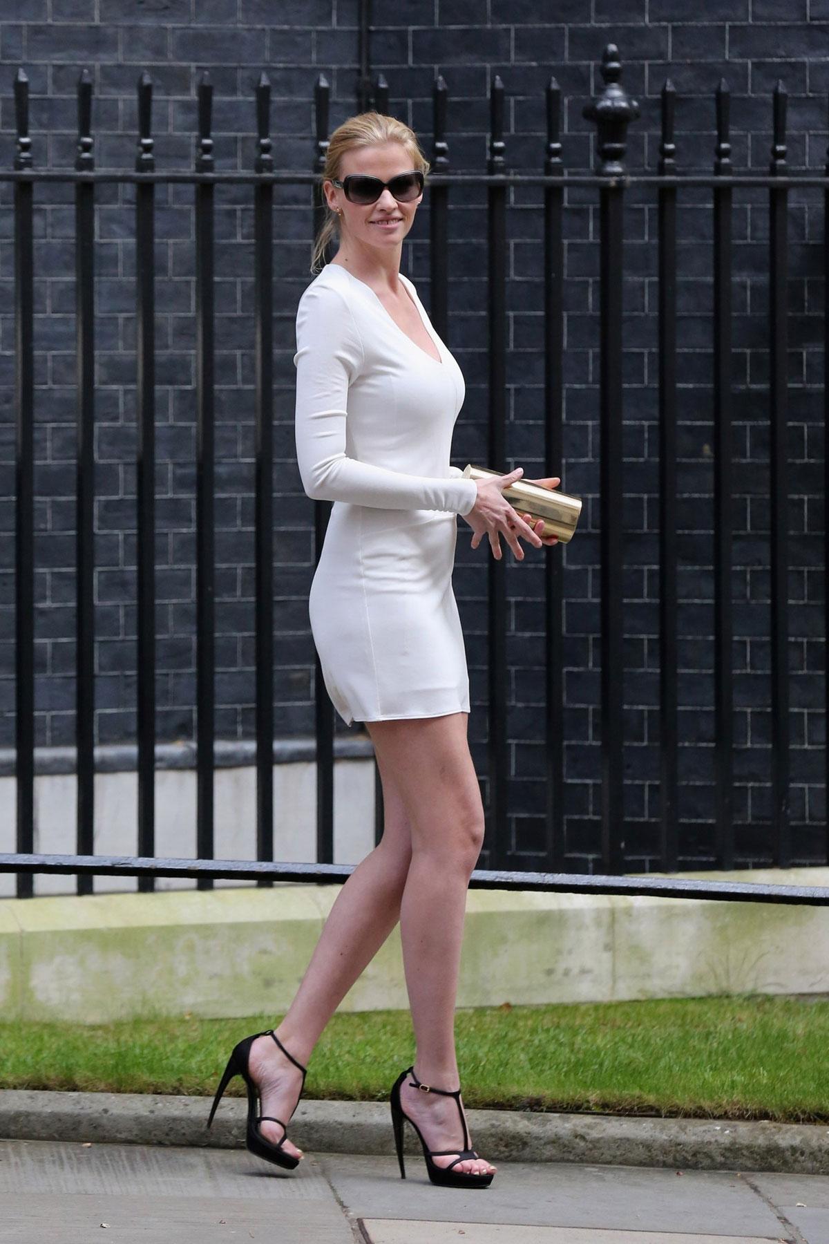 Lara Stone At Tea Reception To Congratulate Sport Relief
