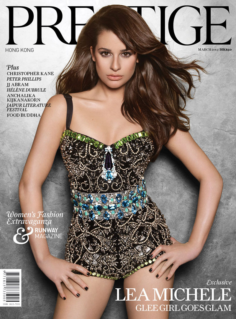 Lea Michele In Prestige Magazine March 2012 Issue
