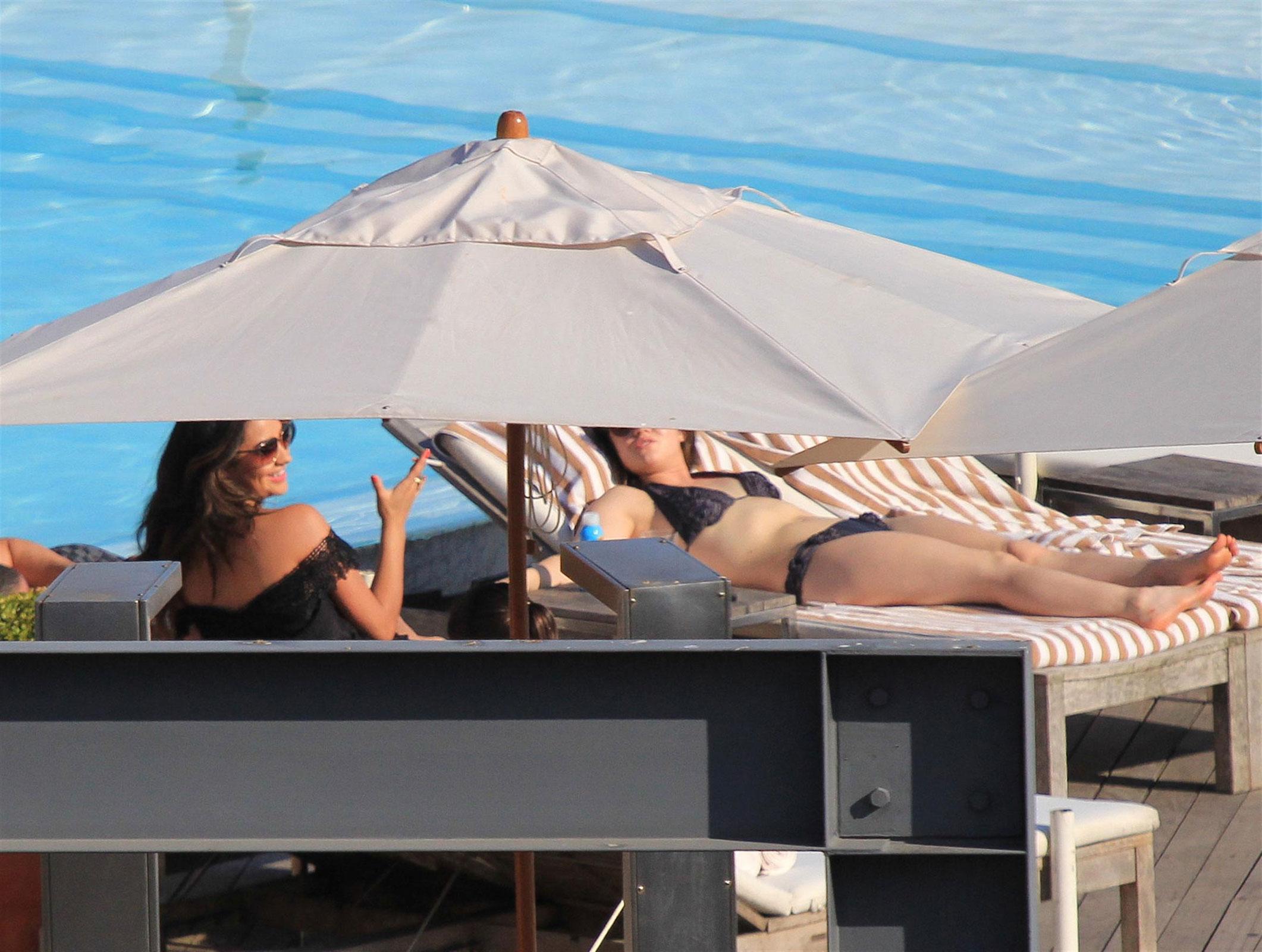 Lucy Hale In Bikini At A Pool In Sao Paulo Hawtcelebs