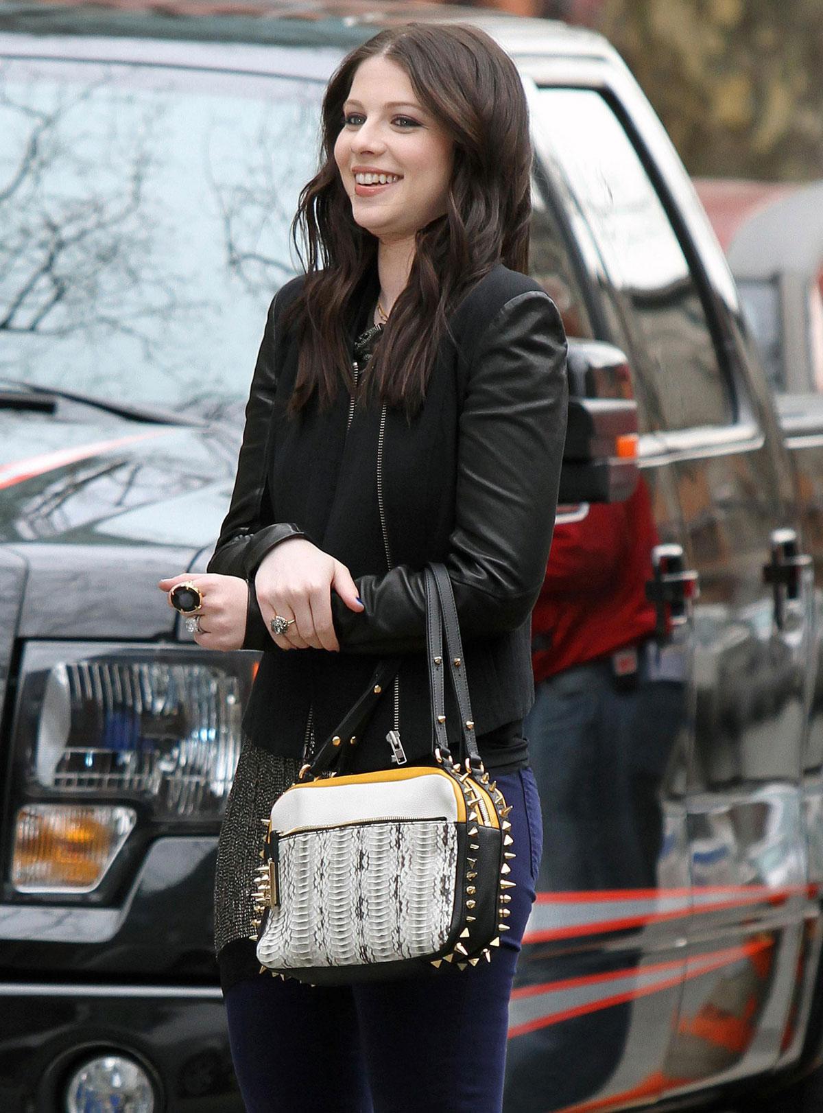 michelle trachtenberg on the gossip girl set in new york