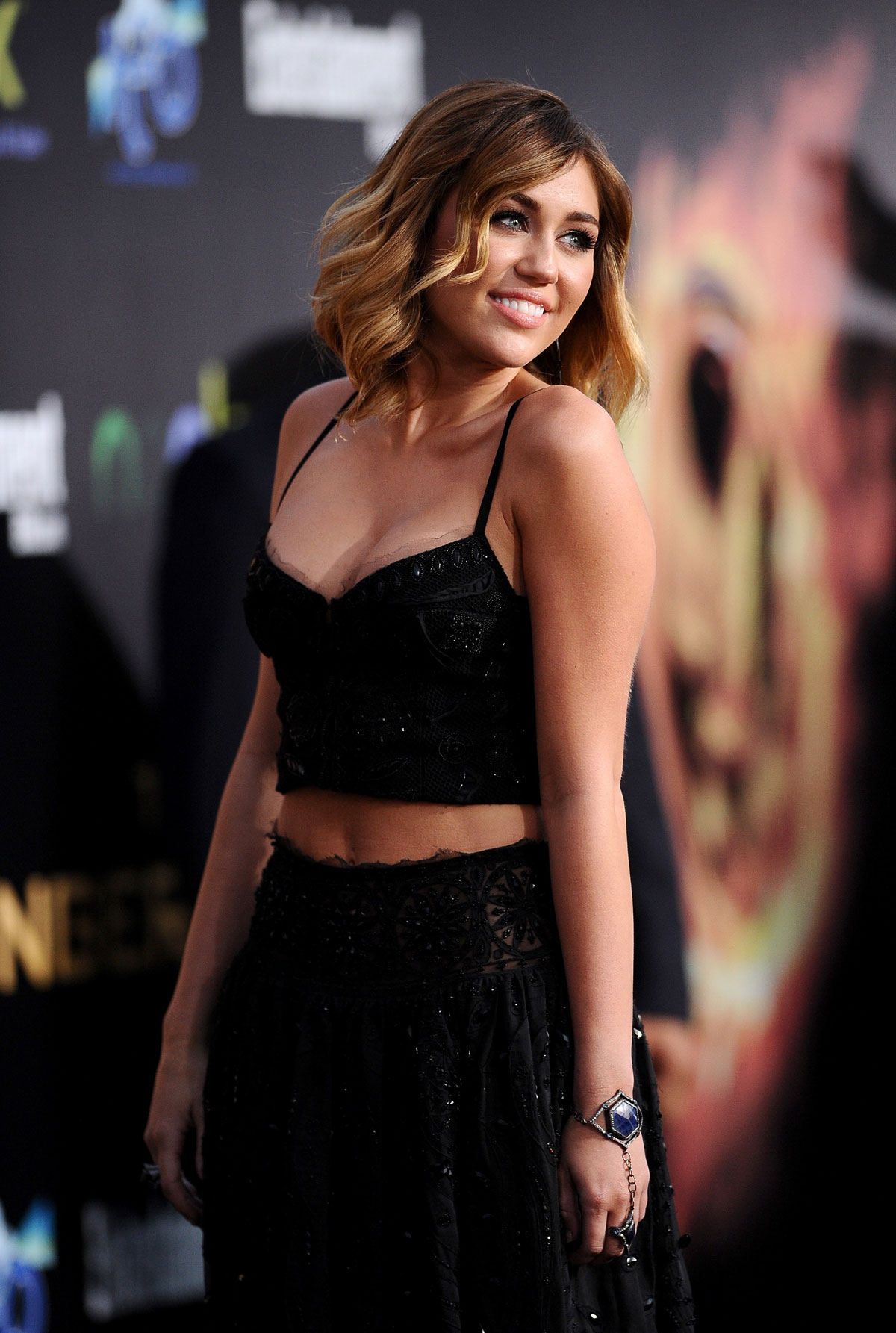 Miley Cyrus At The Hunger Games Premiere In Los Angeles