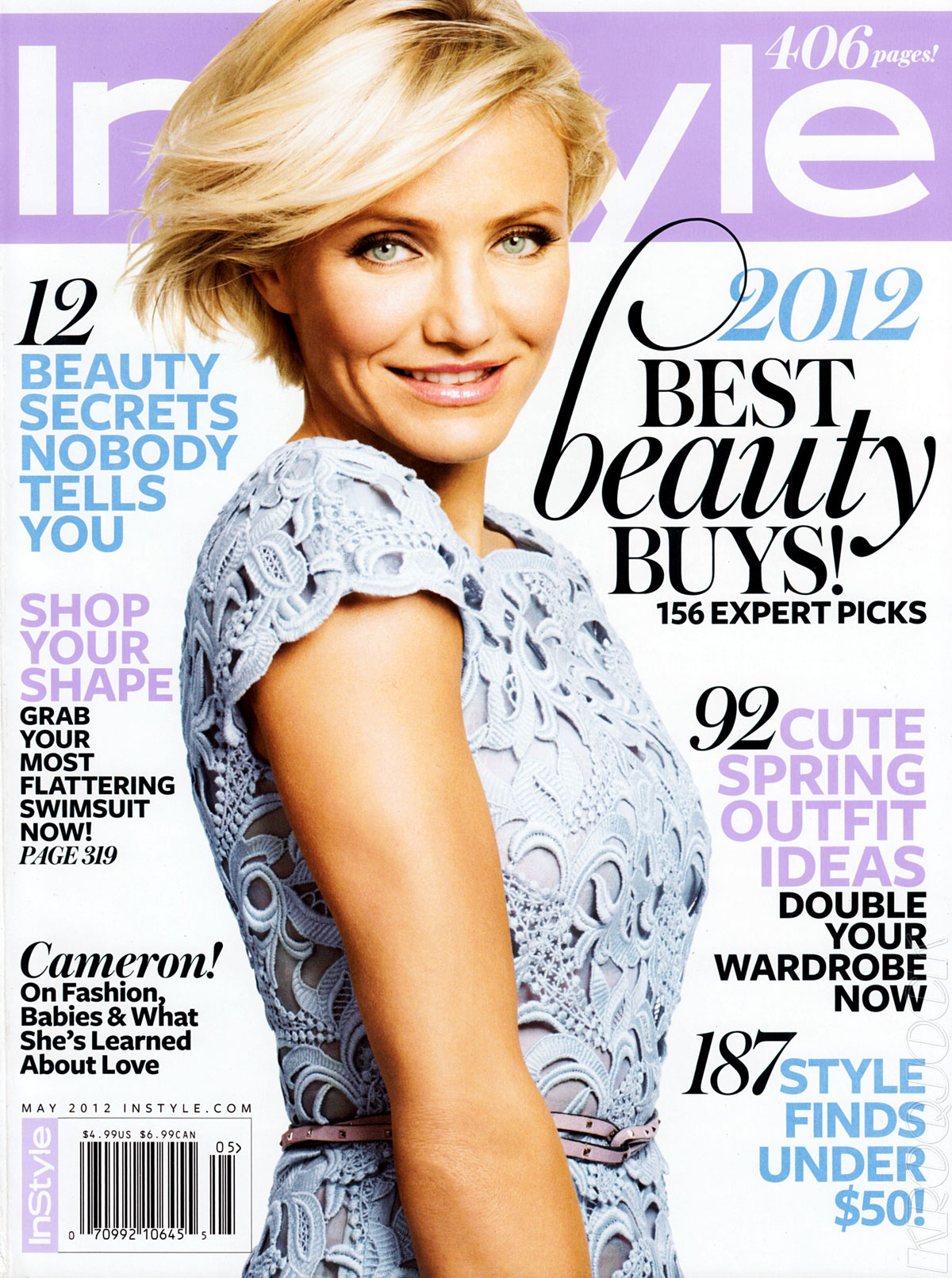 Cameron Diaz In Instyle Magazine May 2012 Issue Hawtcelebs