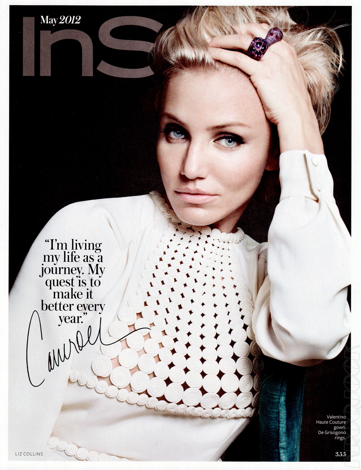 CAMERON DIAZ in InStyle Magazine May 2012 Issue 9