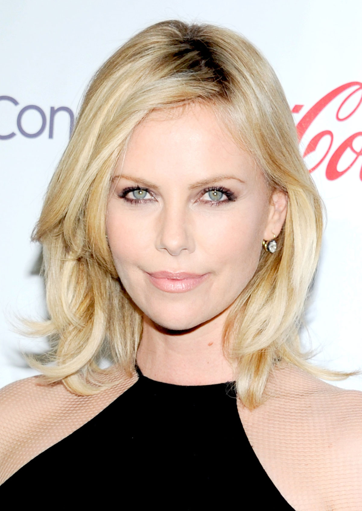 CHARLIZE THERON at Gringo Photocall in Los Angeles 02/24