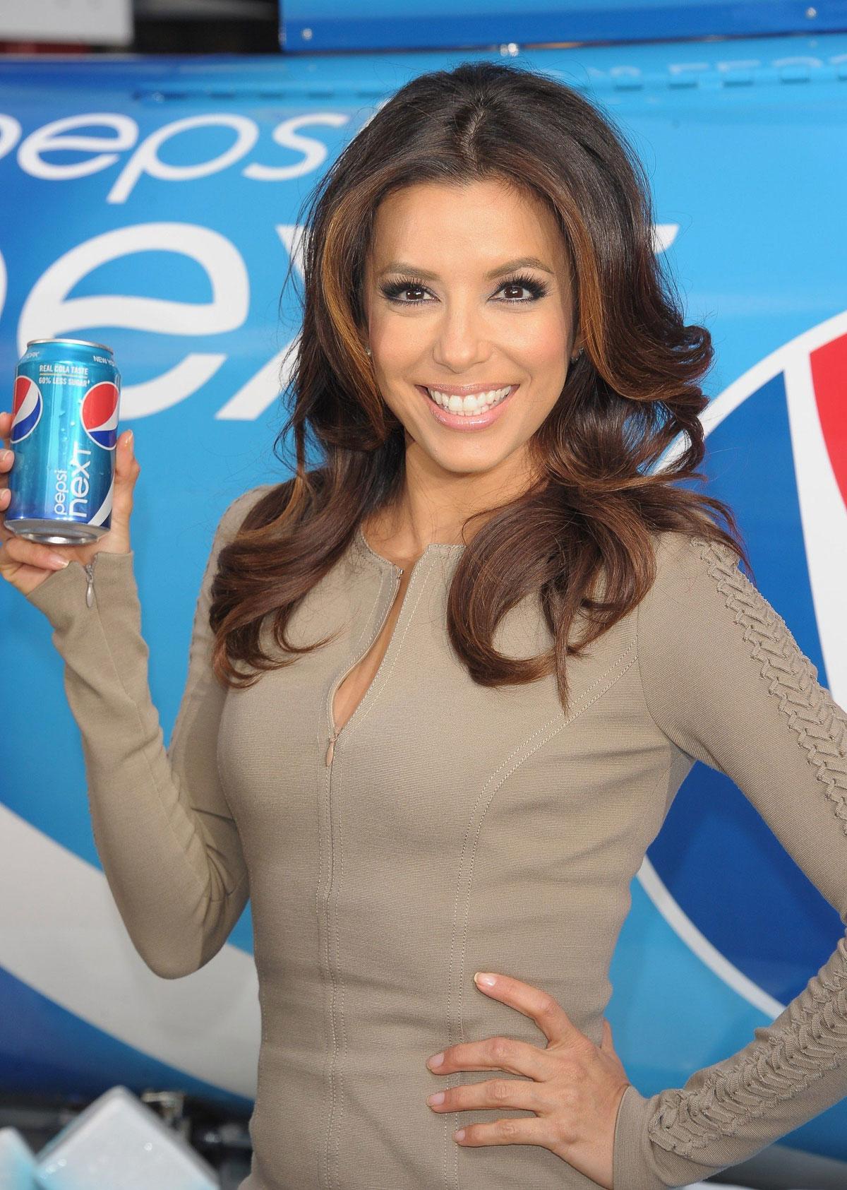 EVA LONGORIA Promotes the Pepsi Next Drink It To Believe It in New ... Eva Longoria