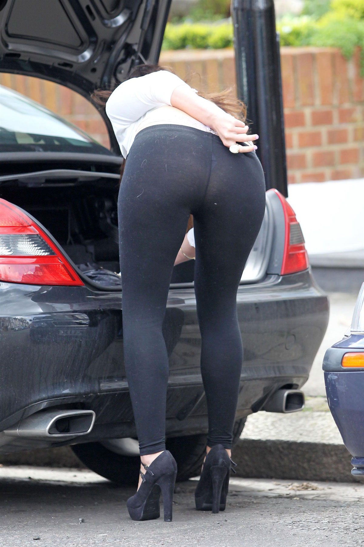 IMOGEN THOMAS in Tight Pants Out and About in London ...