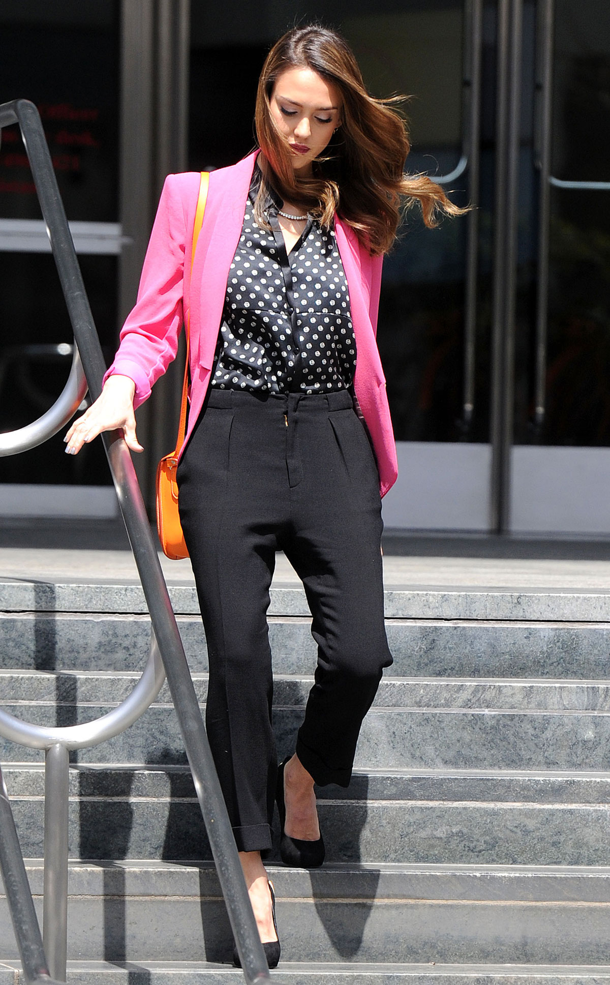 Jessica alba leaves a meeting at aol in beverly hills hawtcelebs