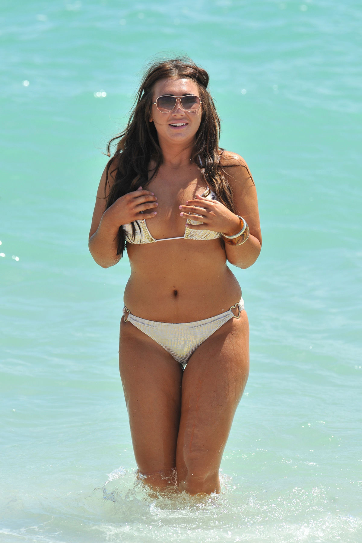 Lauren Goodger In Bikini At A Beach In Miami Hawtcelebs