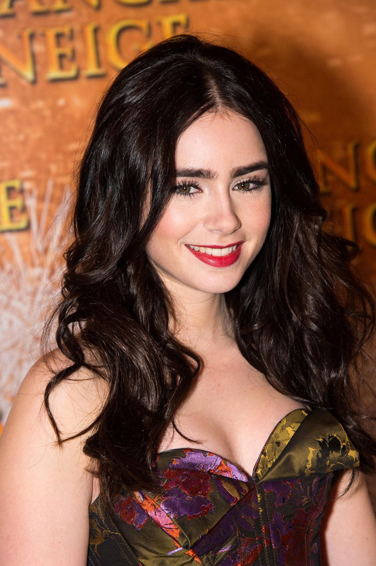 LILY COLLINS at The Blanche Neige Premiere in Paris ...