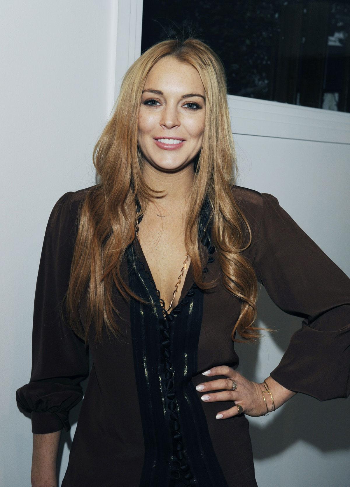 Haruno Sexy Actress Lindsay Lohan At Eva Fehren Jewelry