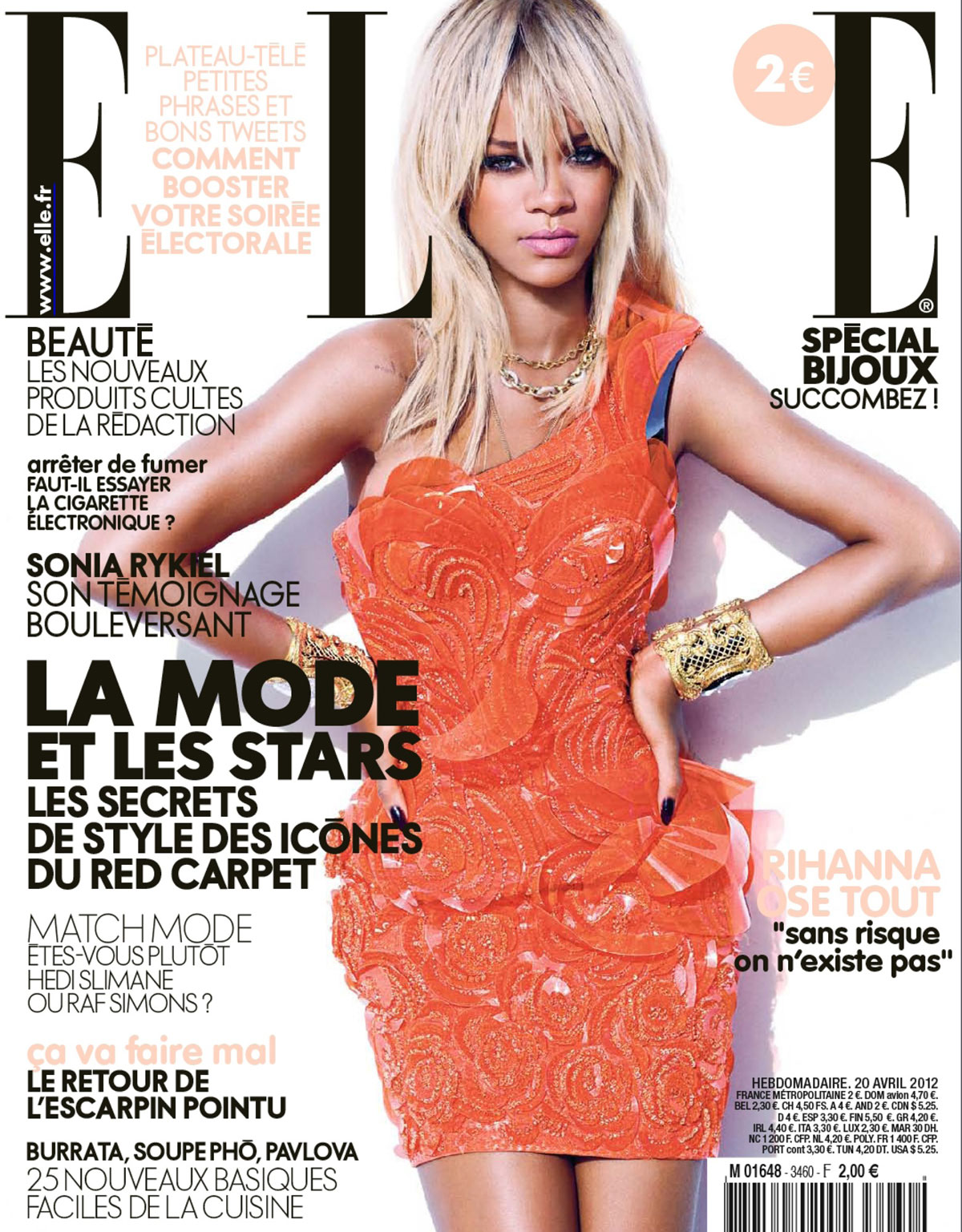 Elle Magazine France February March: RIHANNA In Elle Magazine, France April 2012 Issue