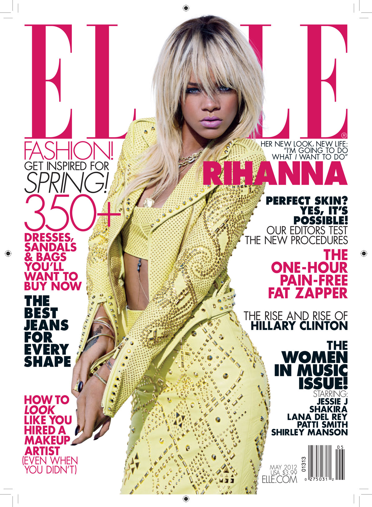 Elle Magazine France February March: RIHANNA In Elle Magazine, May 2012 Issue
