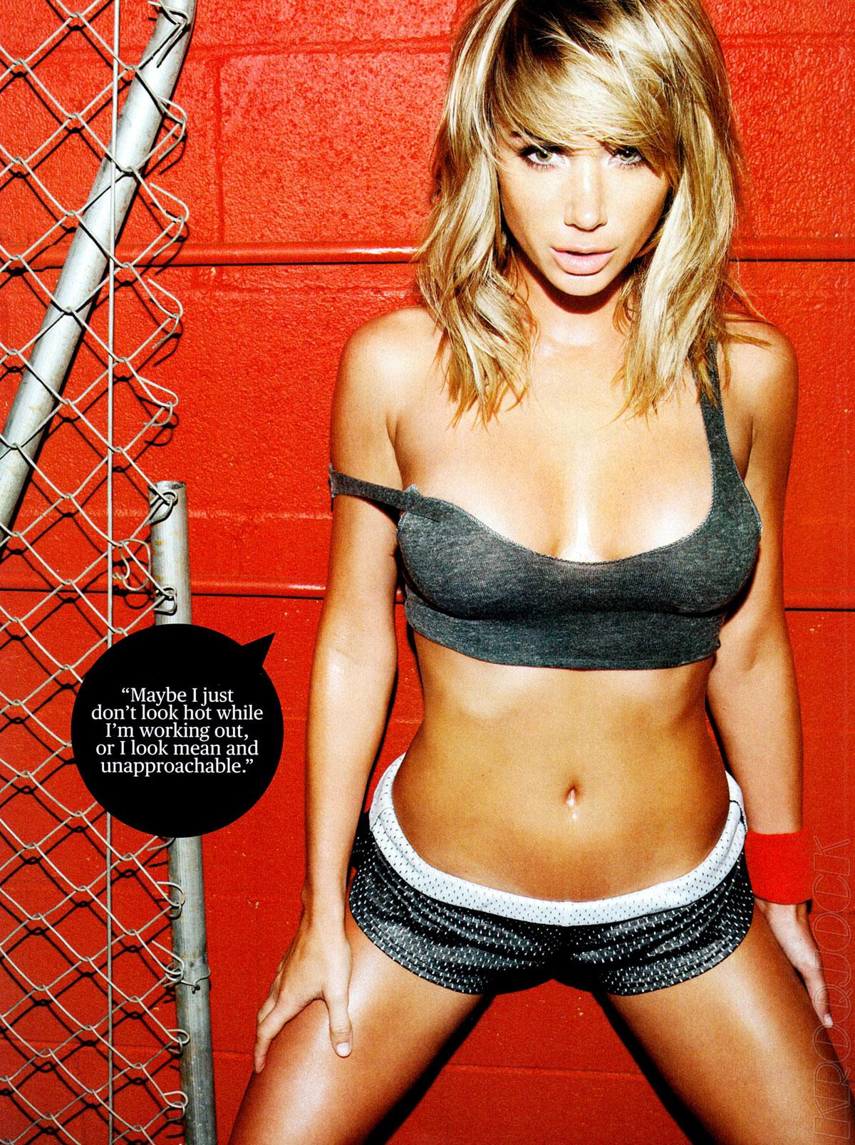 Sara Jean Underwood Bike Top sara jean underwood in men's fitness magazine, june 2012 issue