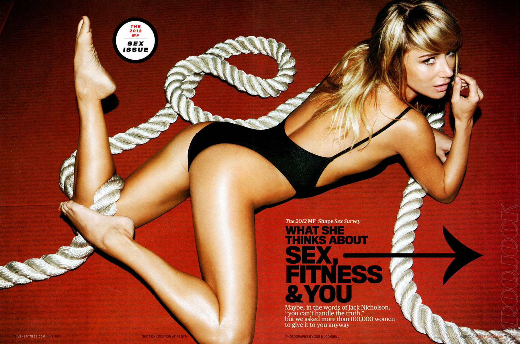 Sara Jean Underwood Bike Classy sara jean underwood in men's fitness magazine, june 2012 issue